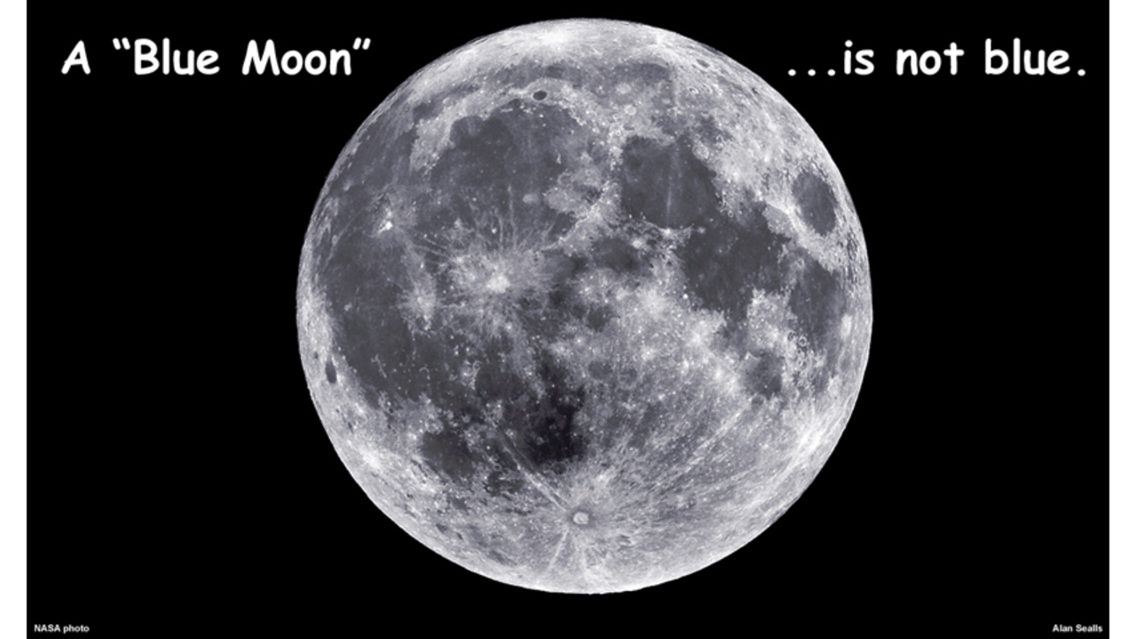 Blue Sky Full Moon But Not Blue Moon >> A Blue Moon Is Not Blue Or Green Or Pink