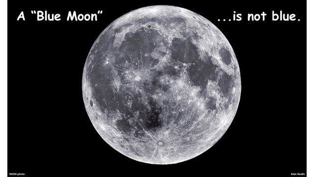 A Blue Moon is not Blue, or Green or Pink