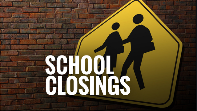 FULL LIST: Wednesday School Closings for Severe Weather