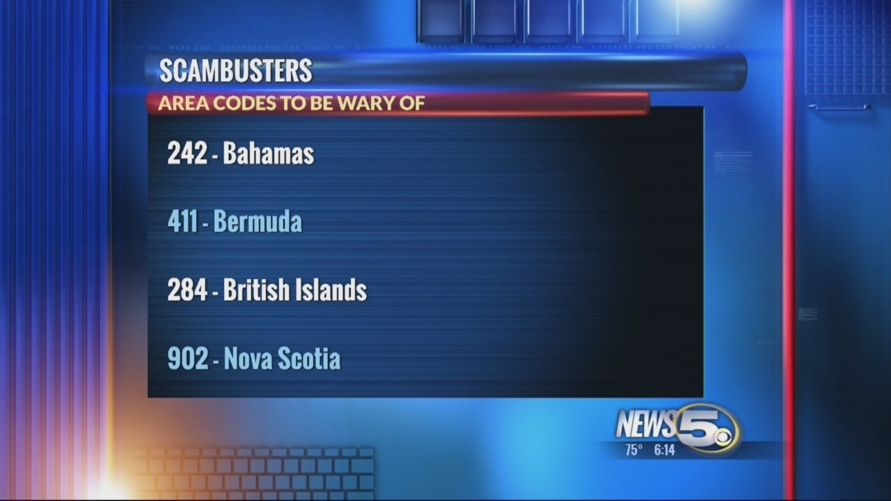 Scambuster: Don\'t Answer Calls From These Area Codes - WKRG