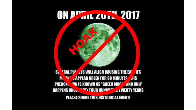 Green Moon is a Hoax; Blue Moon is not Blue