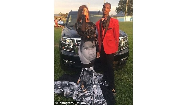 7f9b683495a Florida Teen wears Black Lives Matter-inspired dress to prom