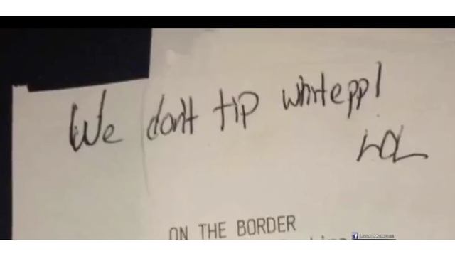 Racist Receipt?: Waiter Gets Stiffed on Tip, But That's Not the Worst Part