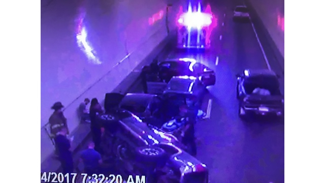 UPDATE: 5-Car Accident Cleared in Westbound I-10 Wallace Tunnel