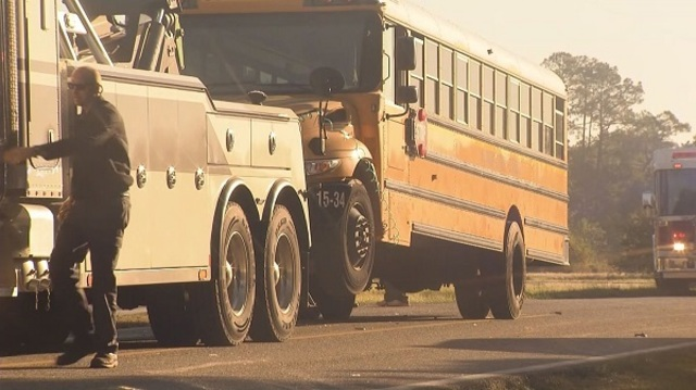 Alabama State Troopers Investigate School Bus Wreck in Bon Secour