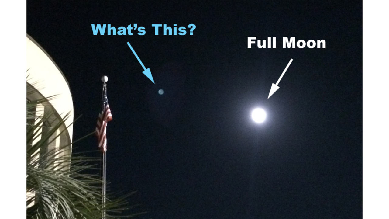 What's that Dot in the Picture of the Moon?