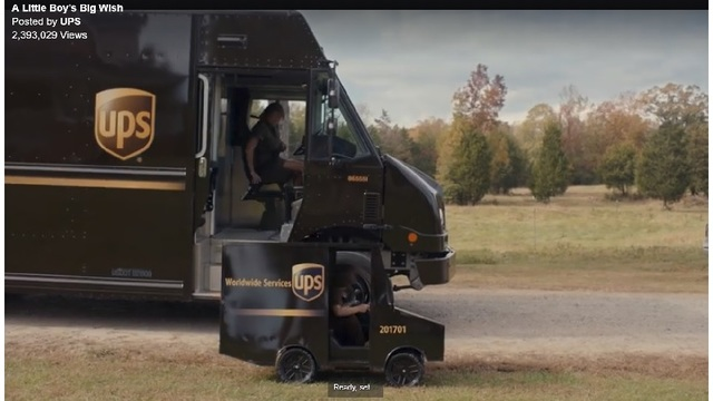 WATCH: UPS Surprises Little Boy, With His Own Brown Truck!