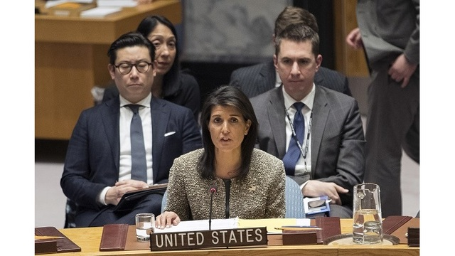 U.S. Ambassador Nikki Haley tells U.N. North Korean missile launch 'brings us closer to war'