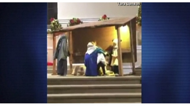 WATCH: Preschoolers fight over baby Jesus during church Nativity pageant