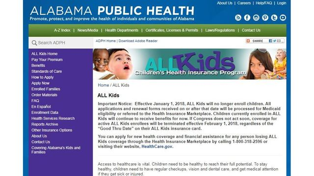 Alabama ALL Kids Program Will No Longer Accept New Enrollees After Jan. 1