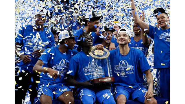 Kentucky tops Vols, wins fourth straight SEC tourney  title