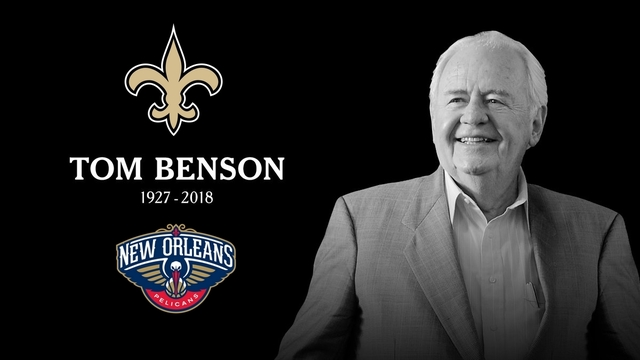 Saints, Pelicans owner Tom Benson dies at 90
