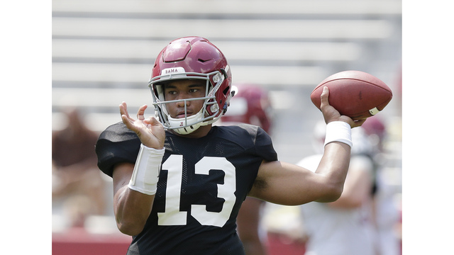 Tua Tagovailoa: Works off to side at practice Thursday
