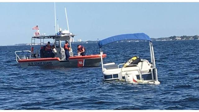 Destin Coast Guard rescues three from sinking boat in Choctawhatchee Bay
