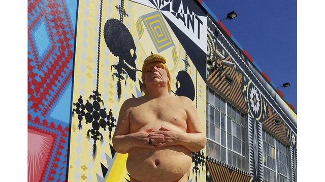 Naked Donald Trump statue going up for auction
