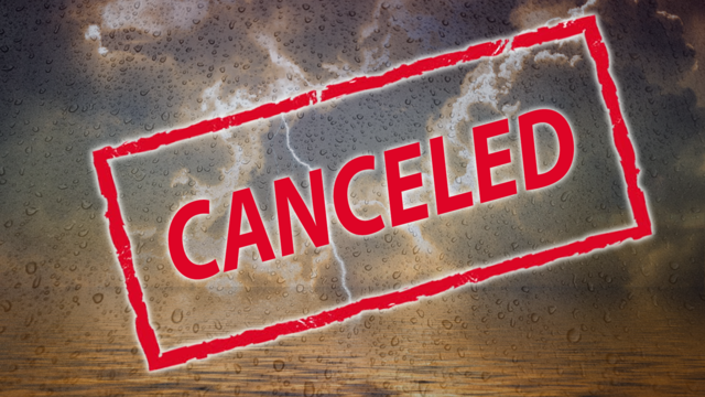 List of event cancellations, postponements due to this weekend's severe weather