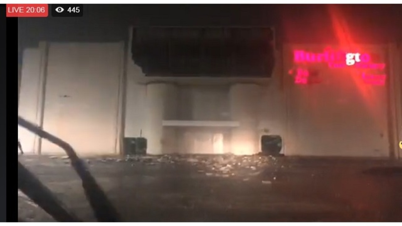 Part Of Burlington Coat Factory Blown Off In Mobile