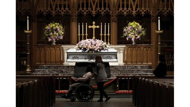 The Latest on the funeral and burial of former first lady Barbara Bush