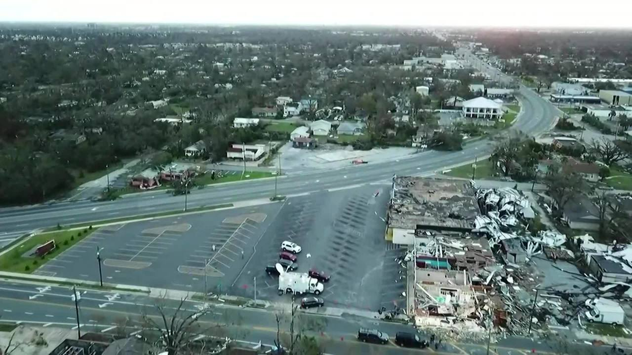Drone video shows destruction in Panama City