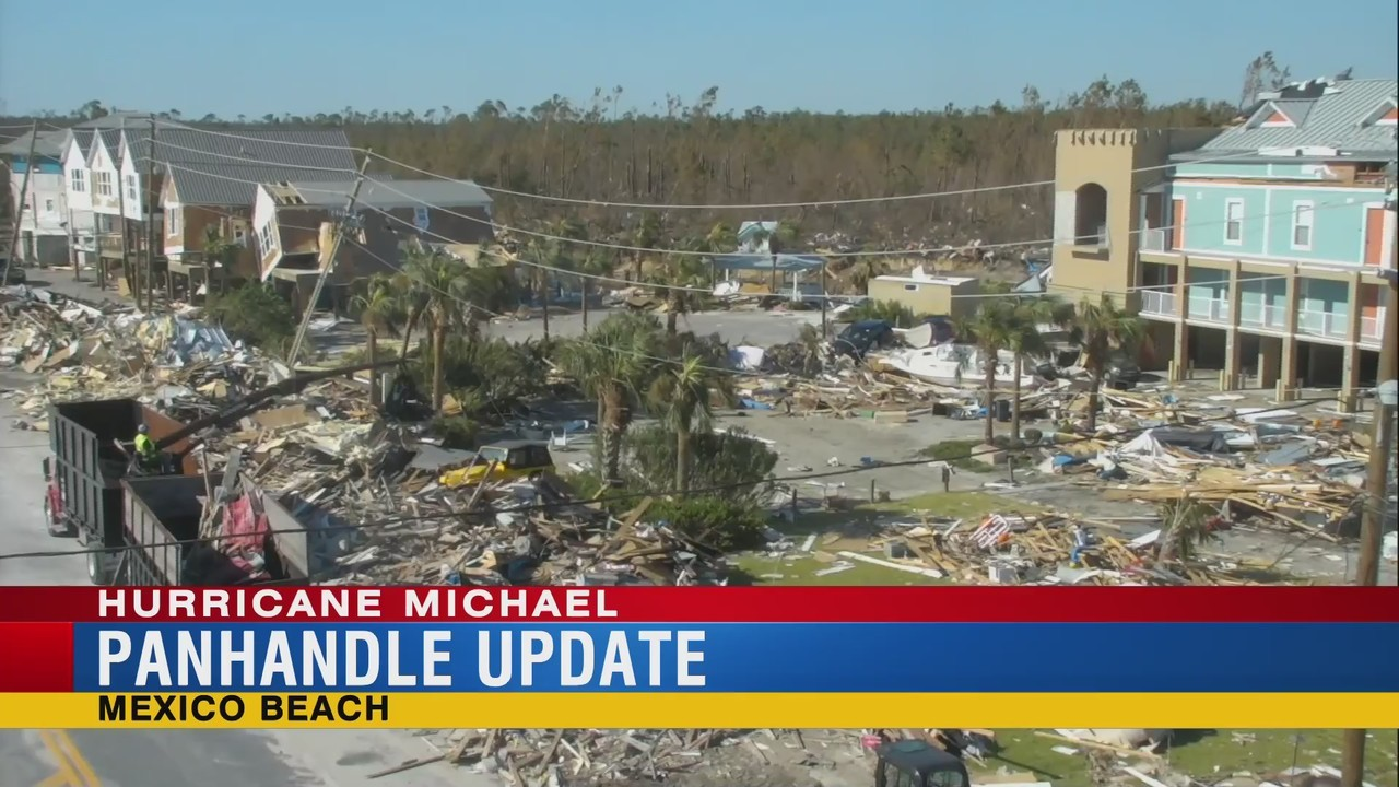 After Hurricane Michael Wmbb 13 Live Special Report From Mexico Beach Florida