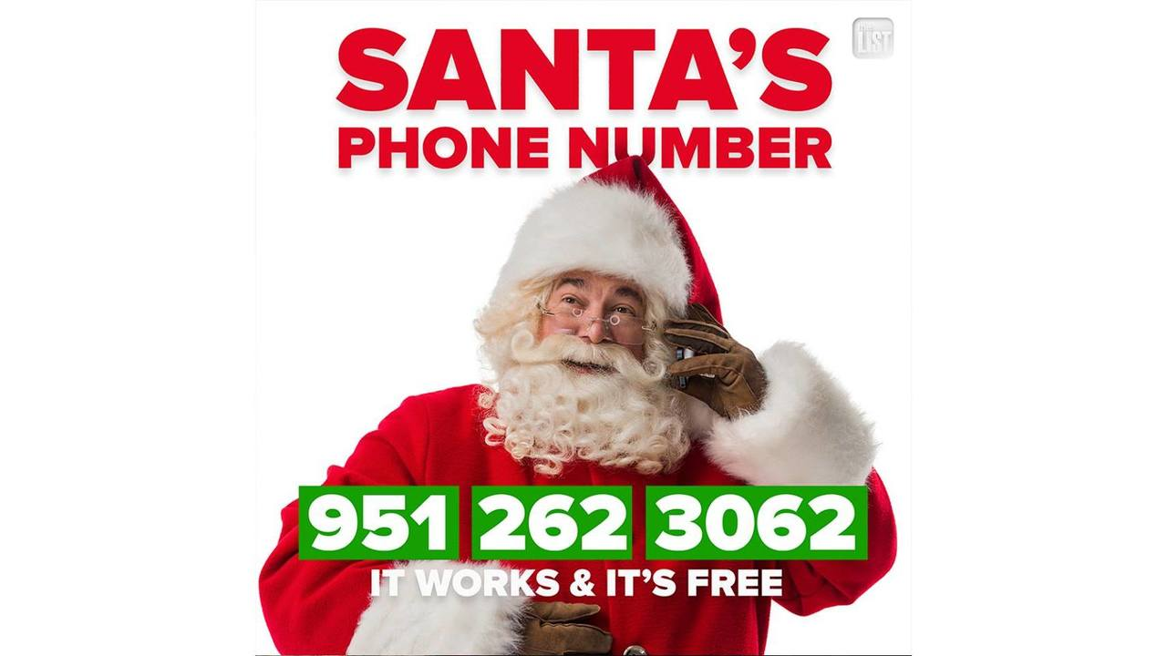 The List Shares Santa\'s Phone Number | Give the North Pole a FREE ...