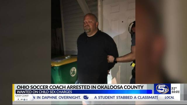 VIDEO: Wanted Ohio soccer coach captured