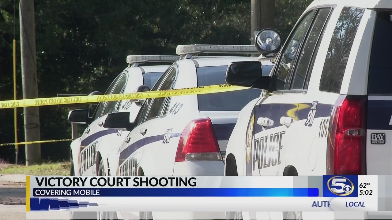 VIDEO: Mobile Police investigating shooting on Victory Court
