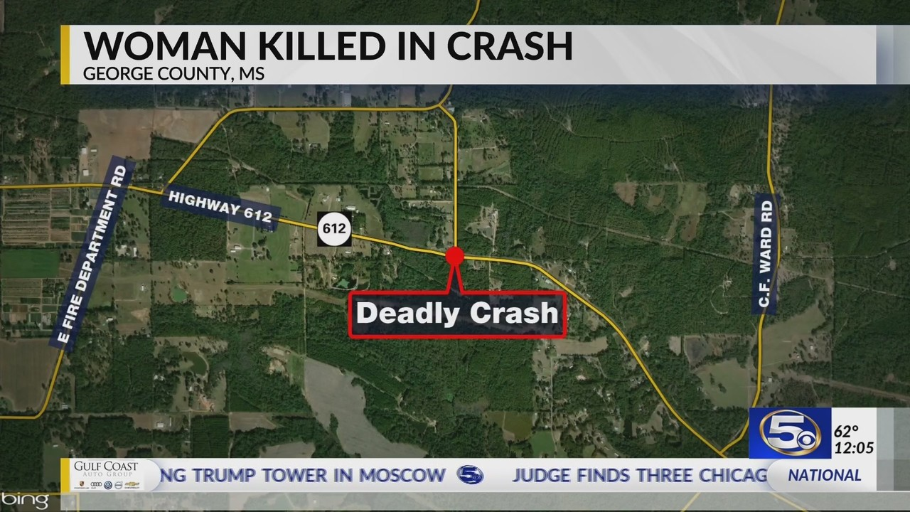 Fatal crash in George County, Mississippi
