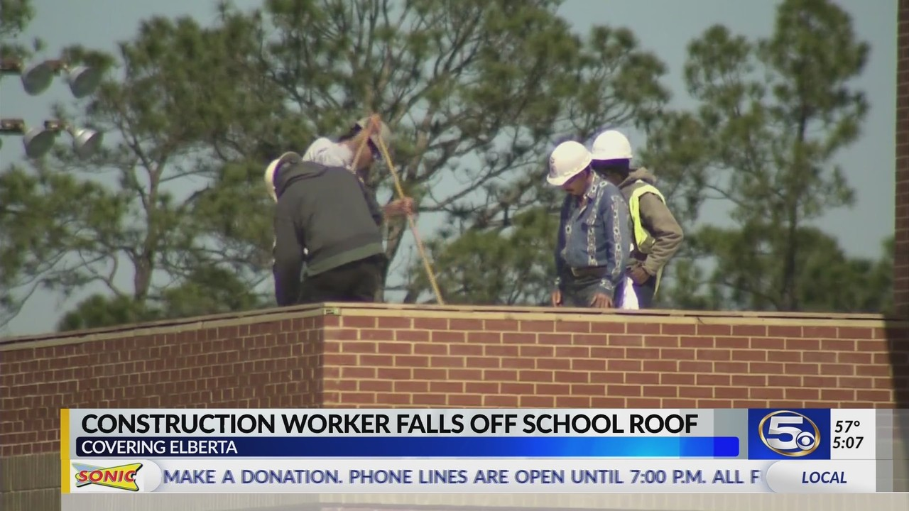 Roofer airlifted from Elberta High School after falling from roof