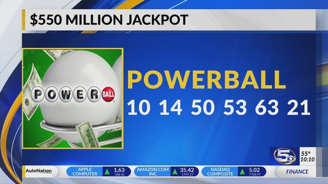 Video Drawing Tonight For 550 Million Powerball Jackpot