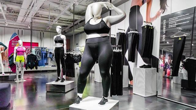 a73ed88a32 Nike introduces plus-size mannequins in London store
